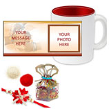 Red Mug with Rakhi