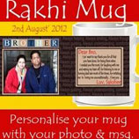 Customized Rakhi Mug