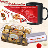 Rakhi Chocolate Hamper with Black Mug