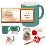 Green Magic Mug with Rakhi Tika